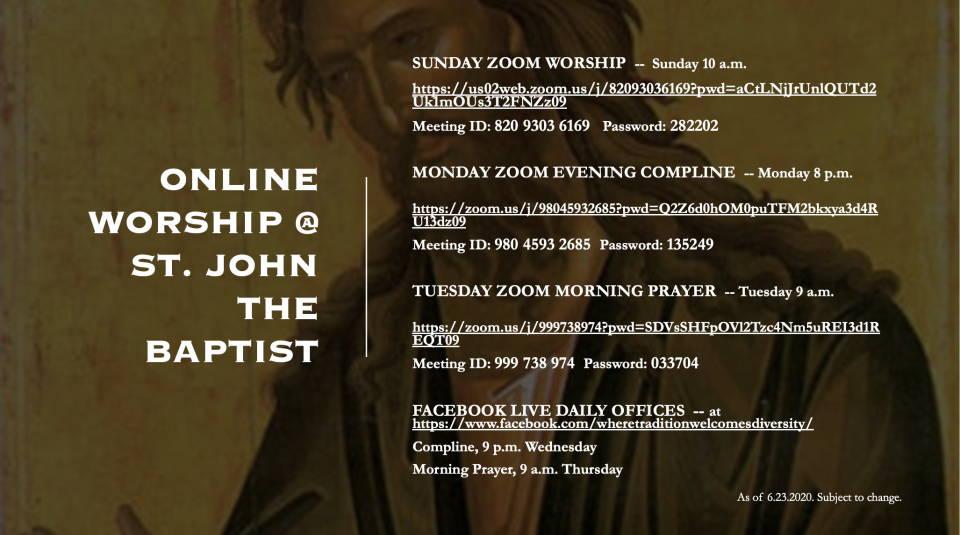 Zoom Sunday Worship Info